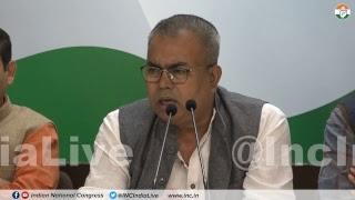 LIVE: AICC Press briefing by Arbind Singh at Congress HQ