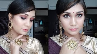 Easy Glam Wedding Guest / Reception Makeup for Beginners | Glowy Party Makeup | Nidhi Katiyar