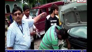 धार  शहर के घोडा चौपाटी पर RTO और ट्रैफिक पुलिस ने सयुक्त चेकिंग कार्यवाही की प्रेशर हॉर्न जब्त