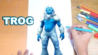 FORTNITE Drawing TROG - How to Draw TROG | Step-by-Step Tutorial - Fortnite Season 7