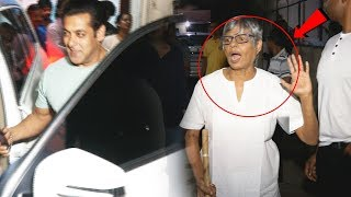 Salman MOBBED By Fans, This Old Lady SHOUTS At Fans For Damaging Salman's Car