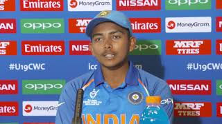 India Captain on ICC U19 Wold cup win