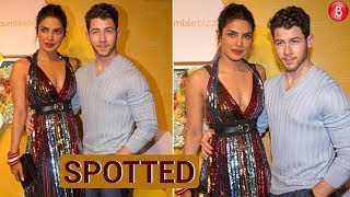 Priyanka Chopra and Nick Jonas look amazing at the Bumble launch party.