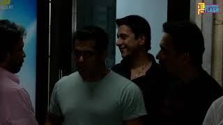 Salman Khan & Aayush Sharma Spotted At Sohel Khan Office