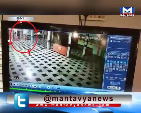 Surat: CCTV footage of Robbery in Kharvasa Temple