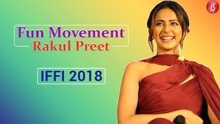 Watch Rakul Preets fun moments in IFFI 2018 question Answer session.