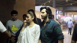 Bollywood Celebs Spotted At Mumbai Airport | Alia Bhatt, Varun Dhwan, Nidhi, Radhika Madan