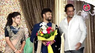 Indrajit, Ravi Shankar Advithi and Ashvithi Attend Sumanth Shailendra And Anitha Wedding Reception