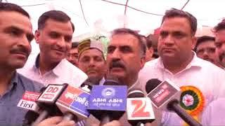 कांग्रेस  अनुसूचित  जाति विभाग ने हमीरपुर में भारत रत्न डा भीमराव  अंबेदकर की 127 वीं जयंती