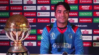 Afghanistan vice - captain Rashid Khan Press Conference Pashto