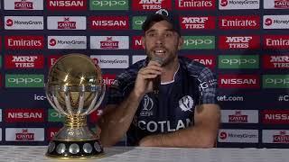 Scotland captain Kyle Coetzer speaks to media ahead of the ICC CWC Qualifier 2018