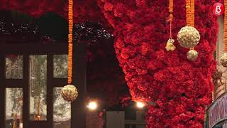 Outside decoration visuals at Antilla ahead of Isha Ambani's wedding
