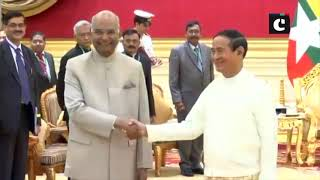 President Kovind holds talks with his Myanmar counterpart U Win Myint; receives ceremonial welcome