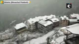 Pir Panjal mountain range receives fresh snowfall, Mughal Road closed; heavy snowfall in Shimla