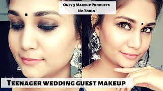 Teenager wedding Guest Makeup Using only 5 Makeup Products & No Tools | Soft Smoky Eyes