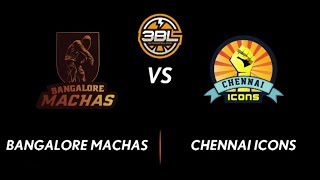3BL Season 1 Round 4(Chennai) - Full Game - Day 2(QuarterFinal) - Bangalore Machas vs Chennai Icons
