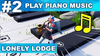 LOCATION 2- Play the Sheet Music on the Pianos near Lonely Lodge Fortnite Week 2 Challenges Season 7