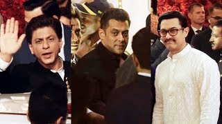 Salman, Shahrukh And Aamir Khan At Isha Ambani And Anand Piramal Grand Wedding