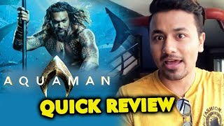 Aquaman 2018 QUICK REVIEW | Jason Momoa, Amber Heard | DC Film | INDIA