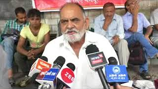 75 घंटे भूख हडताल के बाद अब  फिल्लू राम ने अनिष्चितकालीन भूख हडताल की षुरू ।