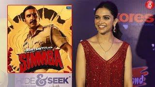 Deepika Padukone reacts on Simmba, says it's a Blockbuster| Kids Chocie Awards|2018