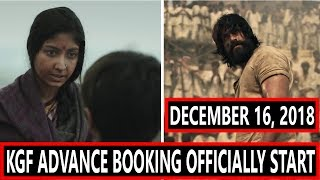 KGF ADVANCE BOOKING Officially Start From December 16 2018