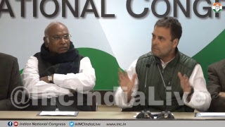 Special Congress party briefing by Congress President Rahul Gandhi on Rafale Scam