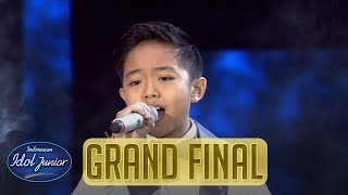 DEVEN - NEVER ENOUGH (Loren Allred) - GRAND FINAL - Indonesian Idol Junior 2018