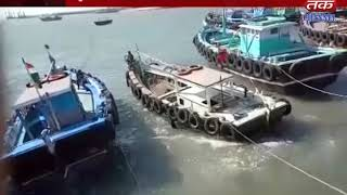 Olkha : Passed passenger boats with bat stopped