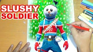 FORTNITEa Drawing SLUSHY SOLDIER - How to Draw SNOWMAN | Step-by-Step Tutorial - Fortnite Season 7