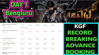 #KGF Record Breaking Advance Booking Started In Bengluru On Day 1