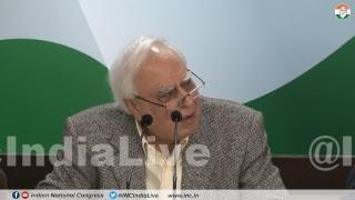 AICC Press Briefing By Kapil Sibal at Congress HQ on Modi Lies To Supreme Court