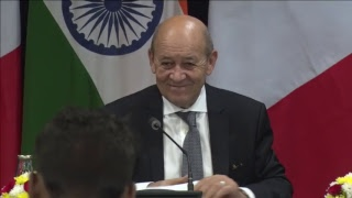 Joint Press Statements by External Affairs Minister and French FM
