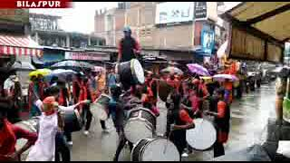 घुमारवी मे  उत्सव रिमझिम बारिश के साथ गणेश को विसर्जित कर संपन हो गया