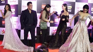 ( Full Video ) Star Screen Awards 2018 | Red Carpet | Salman Khan, Katrina, Mouni, Nora