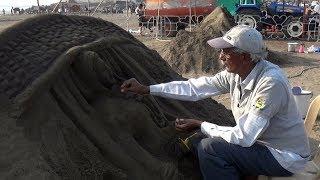સુરતના ડુમસ દરિયા કિનારે યોજાયો રેતી શિલ્પ મહોત્સવ