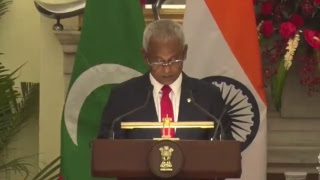 Exchange of Agreements & Press Statements: Visit of President of the Republic of Maldives to India