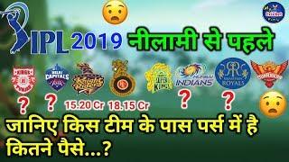 IPL 2019 Auction: जानिए सभी आईपीएल टीमों के पर्स में कितने करोड़ हैं जो लगाएंगी खिलाड़ियों की बोली