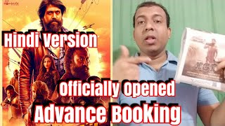 #KGF Advance Booking Finally Open In Full-fledged Way Today In Hindi Version