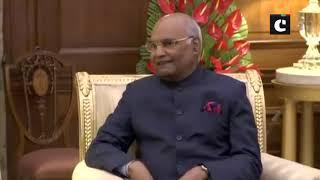 Maldives President met President Kovind at Rashtrapati Bhavan