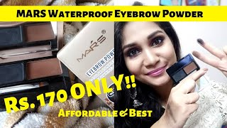 Best Affordable Eyebrow Kit in India | MARS Eyebrow Powder Review | Nidhi Katiyar