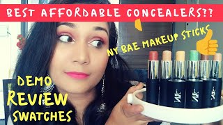 Best Affordable Makeup/Concealer Sticks? NY Bae Makeup/contour/concealer sticks | Nidhi Katiyar