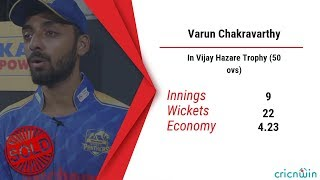 IPL 2019 Auction - Mystery Spinner Varun Chakravarthy attracts 8.4 crore
