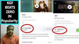 KGF Beats ZERO In Popularity In Book My Show I Will SRK Film Bounce Back?