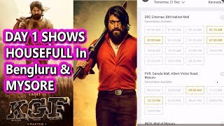 KGF Advance Booking Shows Is Housefull On Day 1 In Bengluru And Mysore