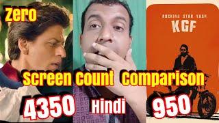 ZERO Vs KGF Screencount Comparison In Hindi Version