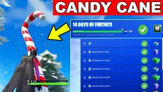 Day 2 REWARD - Visit Giant Candy Cane - 14 Days of Fortnite Challenges for Free Rewards