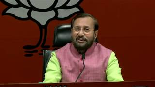 Press Conference by Shri Prakash Javadekar at BJP Head Office, New Delhi