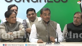 AICC Press briefing by Ahmed Patel, Shaktisinh Gohil, and other like-minded parties