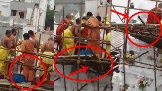 చిన జీయర్ స్వామికి తృటిలో తప్పిన ప్రమాదం | Chinna Jeeyar Swamy Ashtalakshmi Temple |